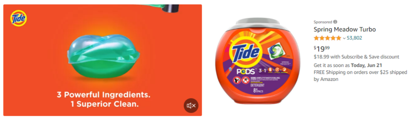 Tide Sponsored Brand Video ad
