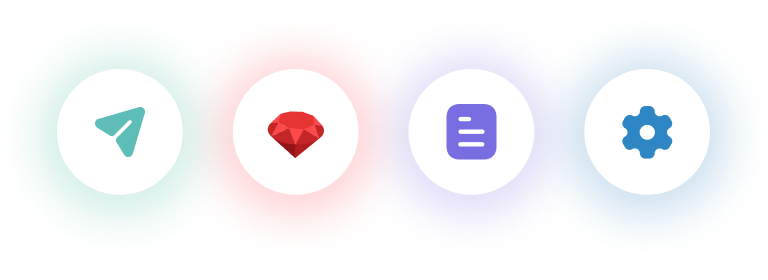 Icons of Ruby on Rails in usa