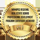 Gold award badge from Winnipeg Regional Real Estate Board for Professional Development