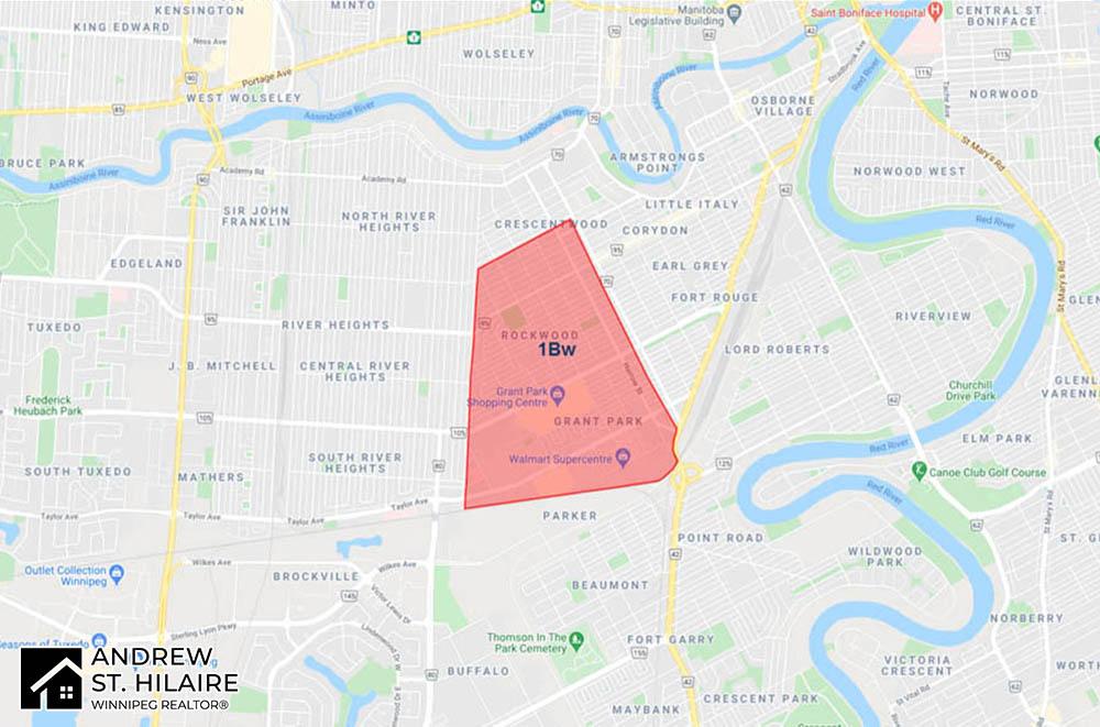 MLS® Map Winnipeg for 1Bw Area