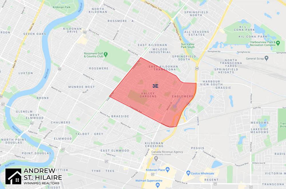 MLS® Map Winnipeg for 3E Area