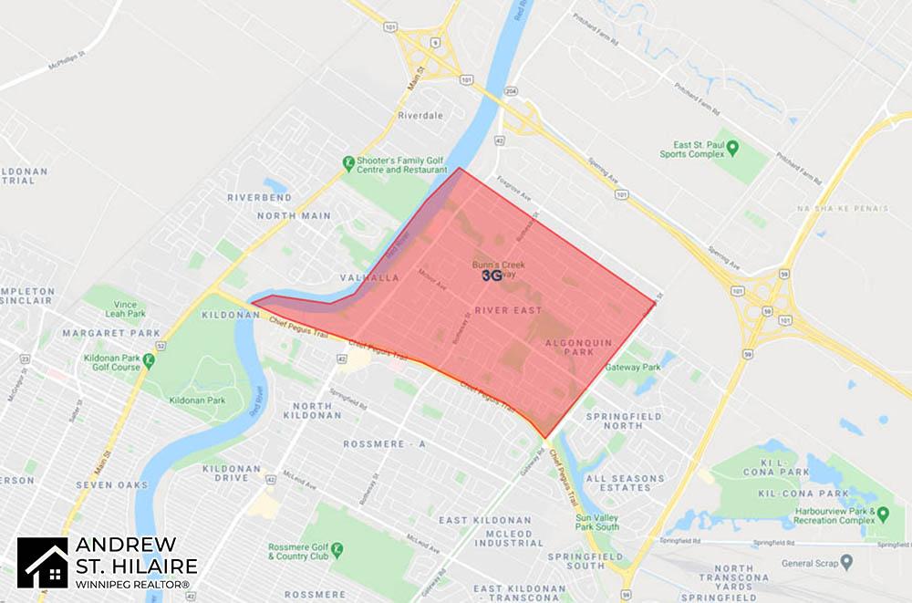 MLS® Map Winnipeg for 3G Area