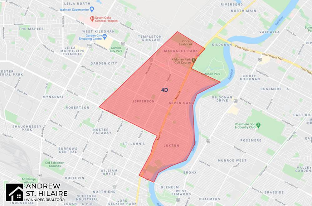 MLS® Map Winnipeg for 4D Area