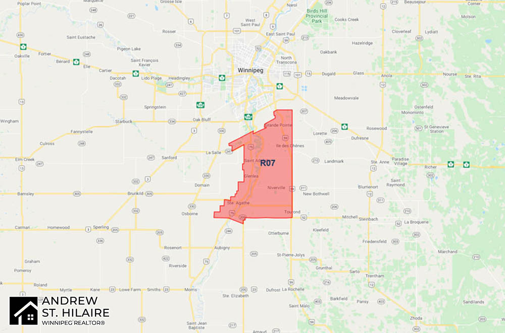 MLS® Map Winnipeg for R07 Area