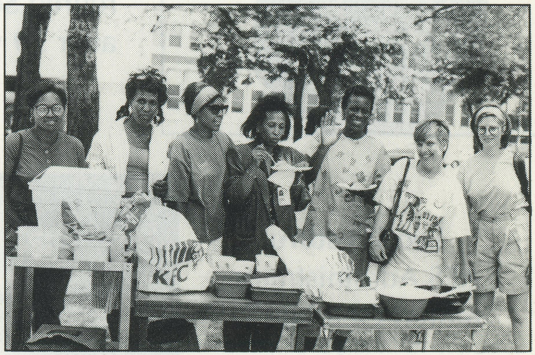 Women and children with AIDS program annual picnic, 1991