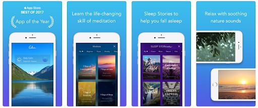 Application interface design examples: Calm