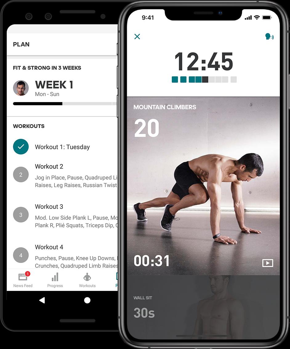 Application interface design examples: Adidas