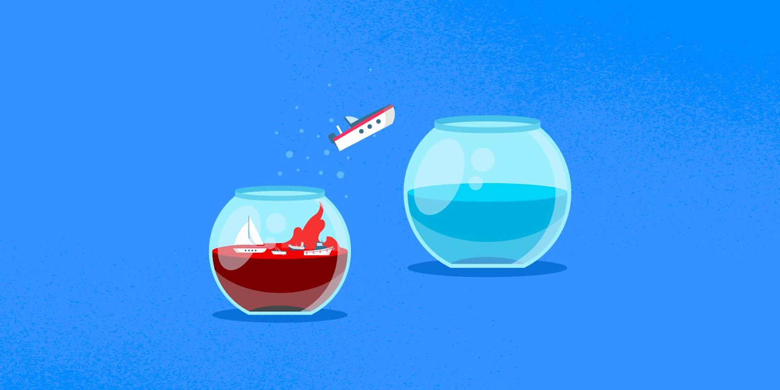 Blue ocean image