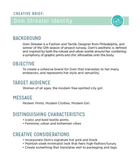 creative design brief example