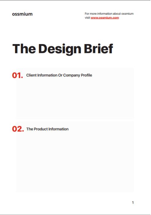 free brief design template