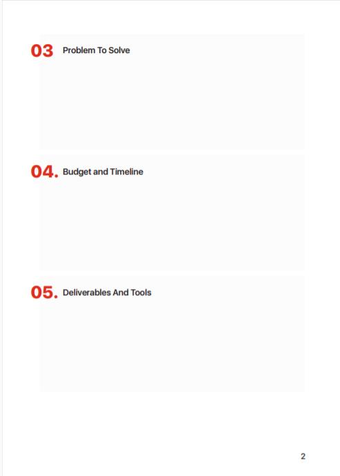 a template for a creative design brief