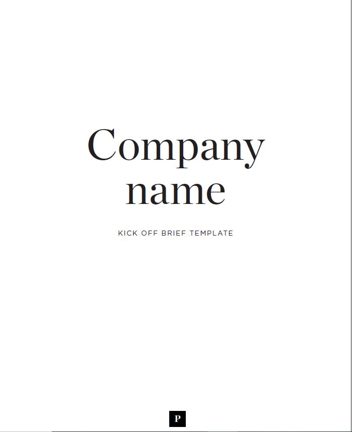 simple design brief template
