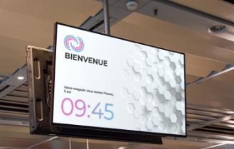 Ecran ADS avec le module d'affichage de l'heure