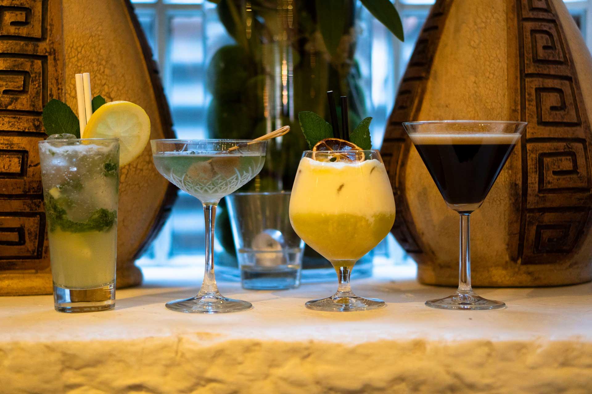 Mezethes Greek Taverna cocktails o2