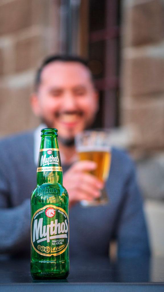 Mezethes Greek Taverna Mythos beer