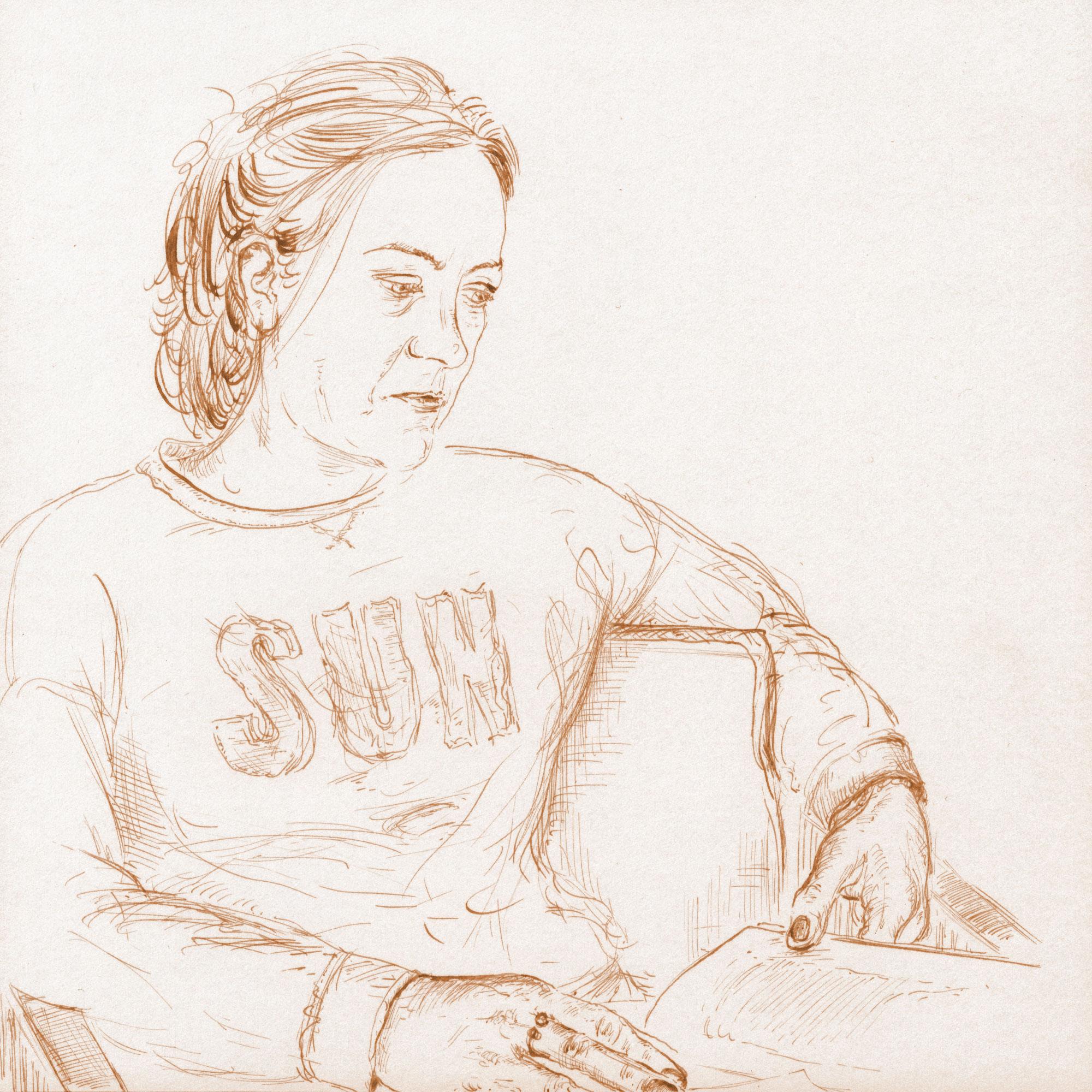 Simone reading