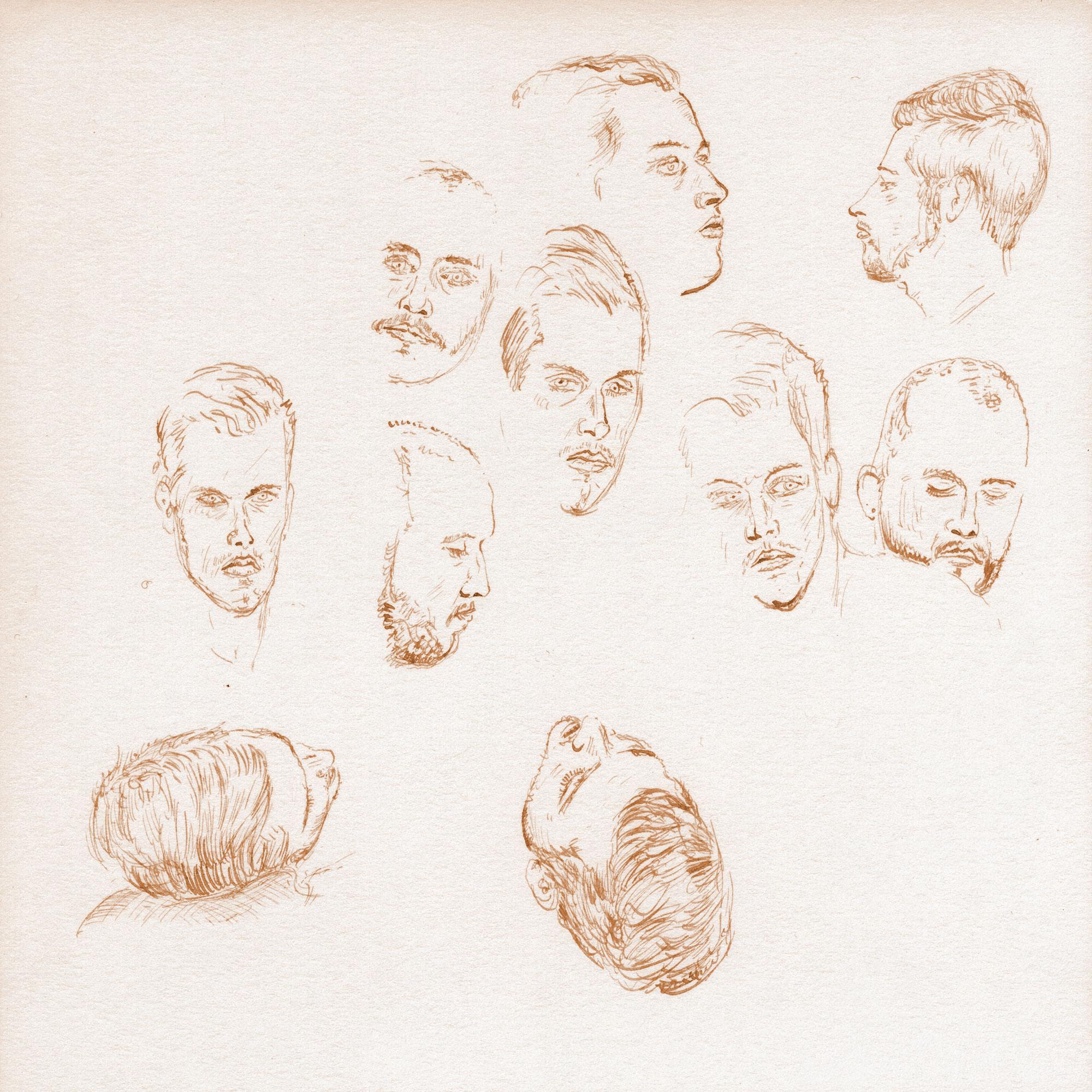 Couple head studies 1