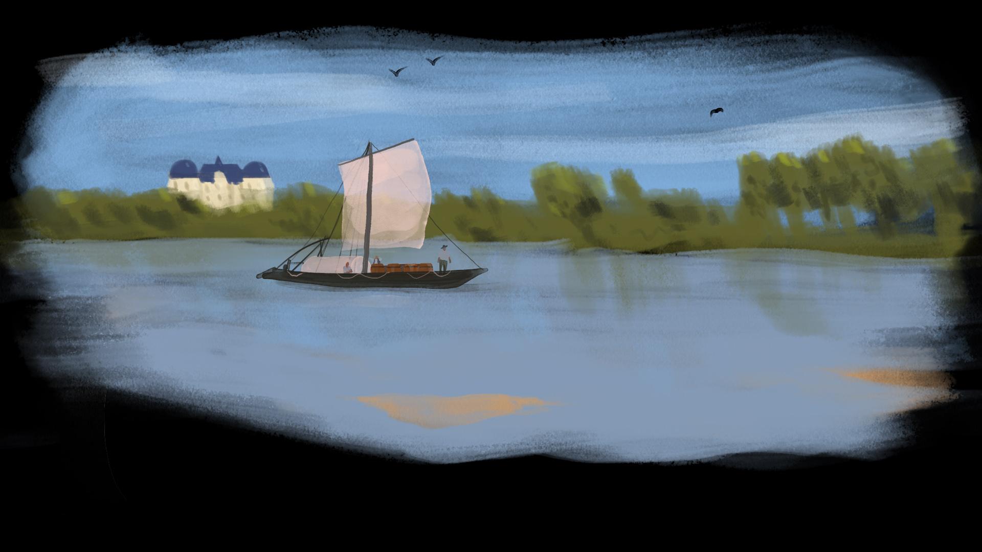 peinture de paysage avec une rivière
