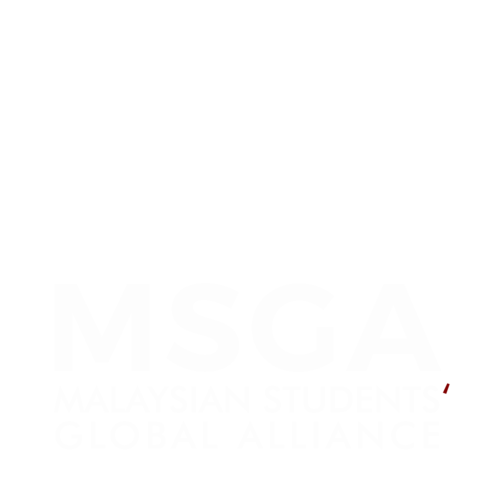 MSGA Stacked Logo Reversed Color