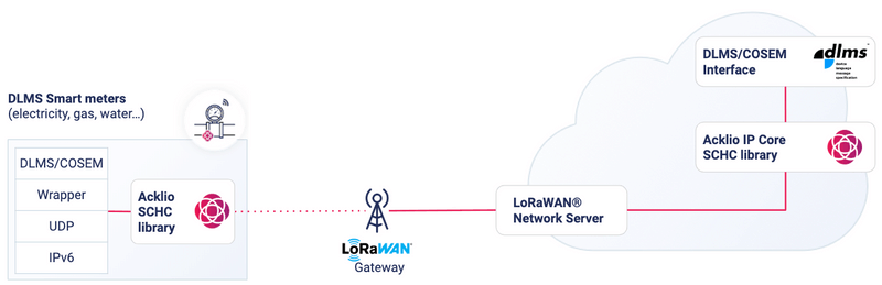 Standard architecture DLMS over LoRaWAN