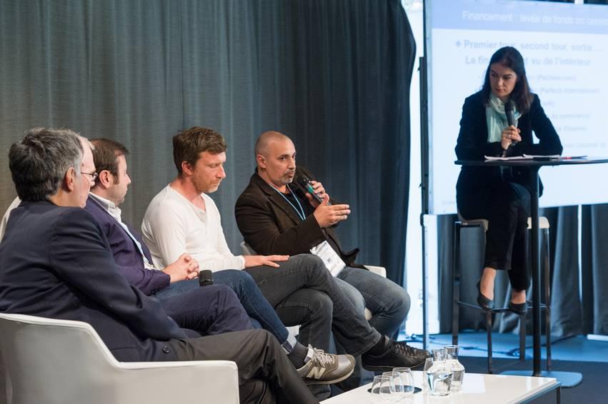 """Enjeux Fevad 2013, table ronde """"Financement des entreprises de l'e-commerce avec G. Piquart , M. Menasé), P. Collombel, J-M. Pimont"""