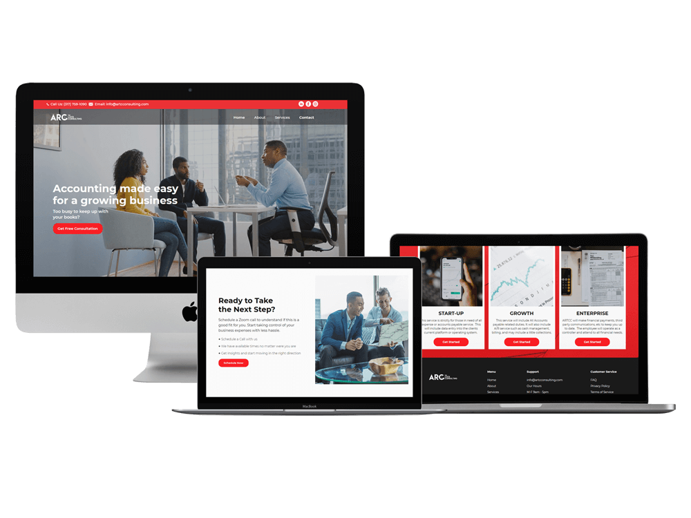 photo of website design