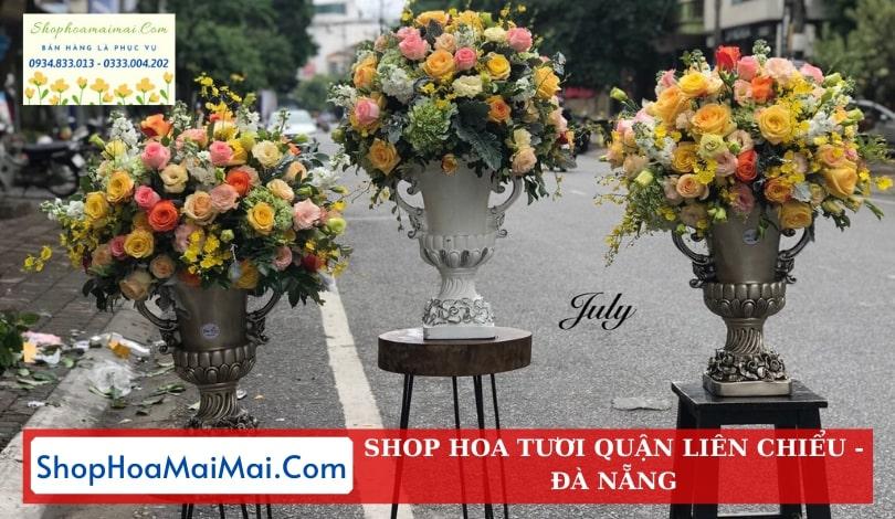 Cắm hoa sinh nhật theo mẫu Hòa Khánh