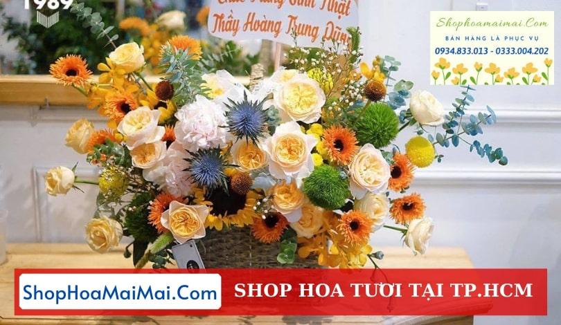 Cắm hoa tươi theo yêu cầu tại TP HCM