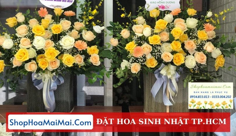 Cắm hoa sinh nhật theo yêu cầu tại  TP.HCM