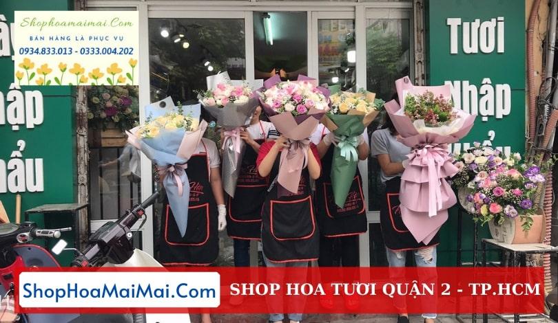 Cửa hàng hoa tươi quận 2 TPHCM