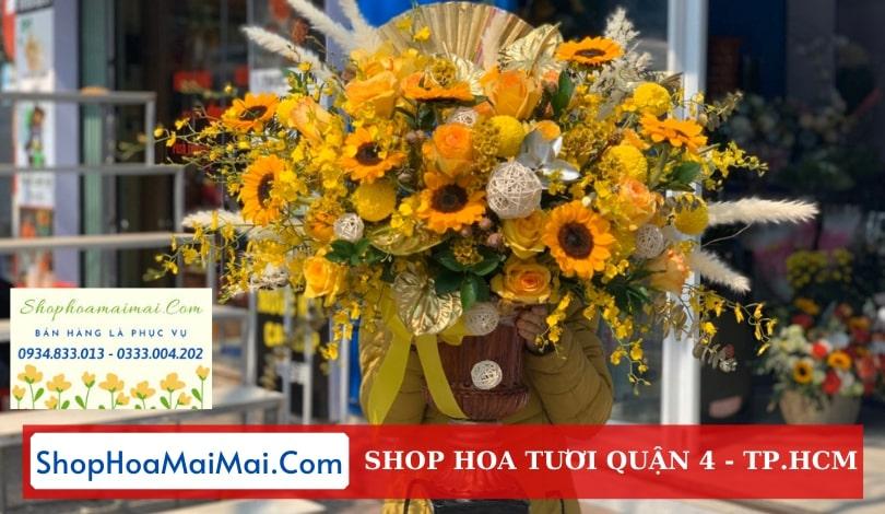 Tiệm hoa tươi uy tín Quận 4
