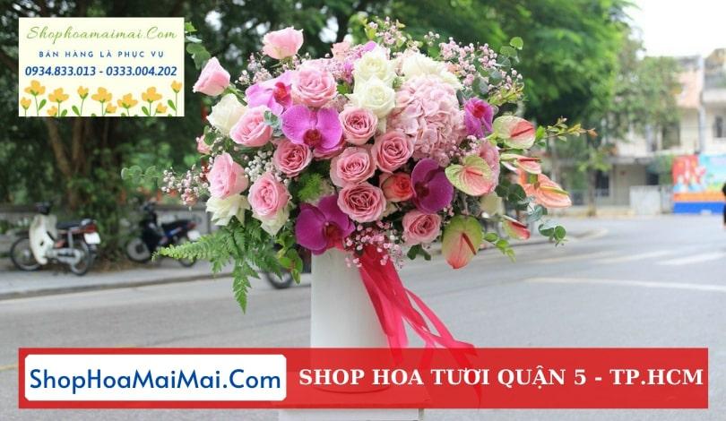 Tiệm hoa tươi Quận 5
