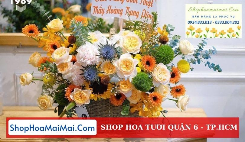 Tiệm hoa tươi uy tín Quận 6 TPHCM