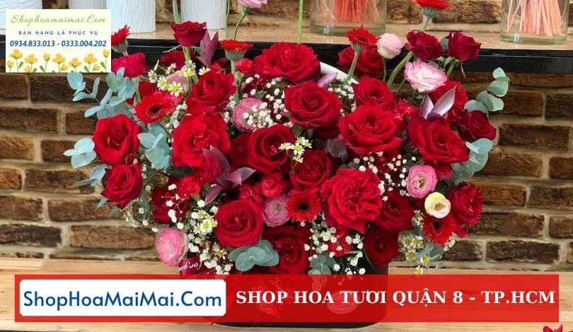 Tiệm hoa tươi online Quận 8 TPHCM