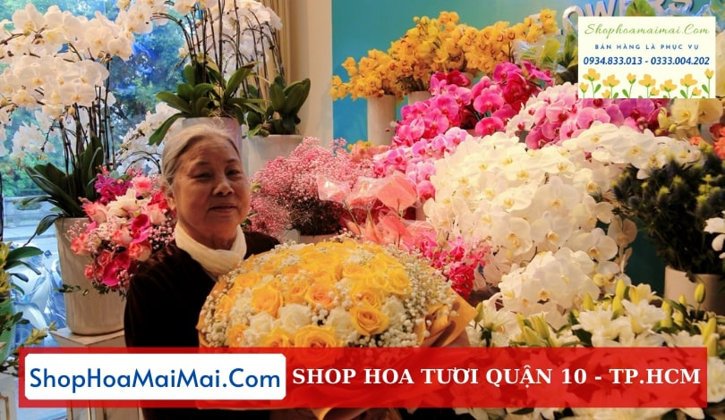 Tiệm hoa chất lượng Quận 10