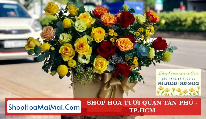 Cửa hàng hoa khai trương quận Tân Phú