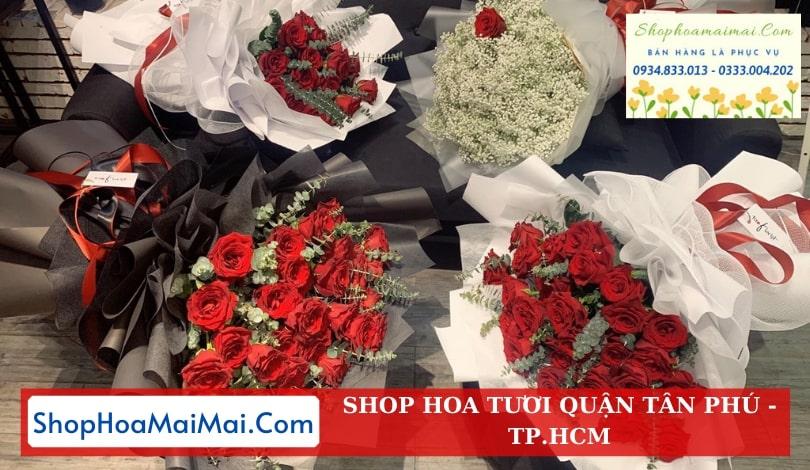 Tiệm hoa tươi quận Tân Phú