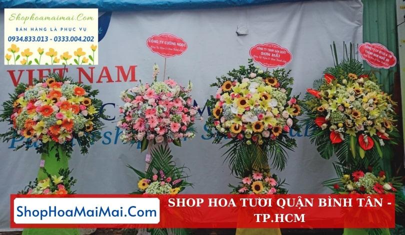 Cửa hàng hoa khai trương quận Bình Tân