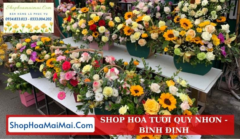 Cửa hàng hoa tươi tại Quy Nhơn