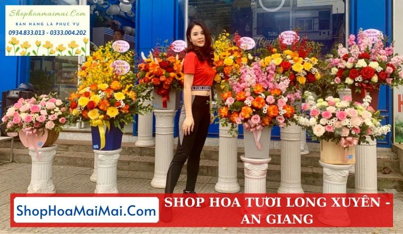 Shop hoa tươi tại Long Xuyên