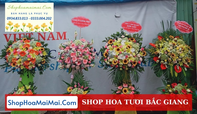 Cửa hàng hoa khai trương Bắc Giang