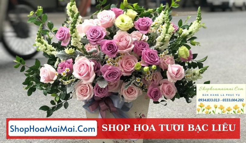 Tiệm hoa tươi online Bạc Liêu