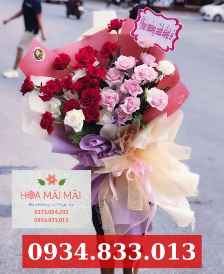 Cắm hoa sinh nhật theo yêu cầu Hòa Xuân