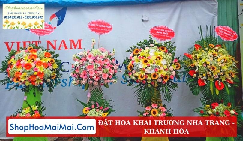 Shop hoa khai trương tại Nha Trang