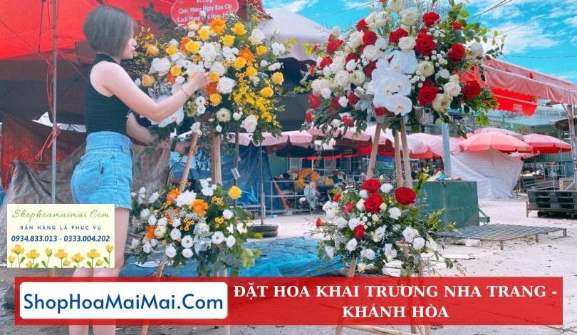 Mua hoa khai trương online Khánh Hòa