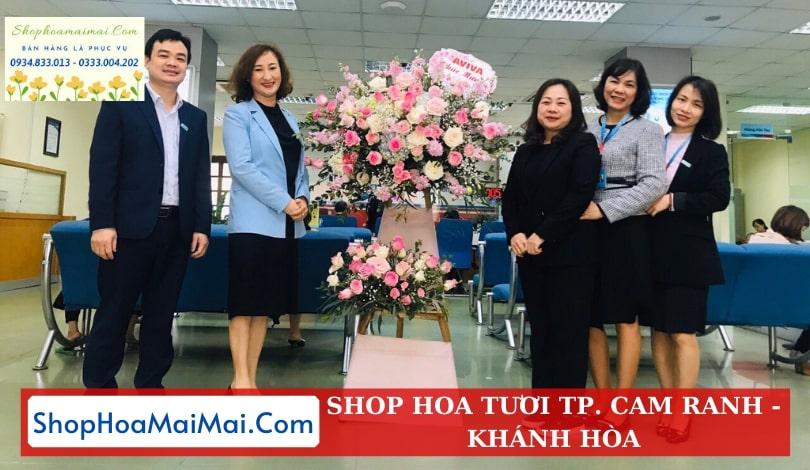 Cắm hoa khai trương theo mẫu tại Khánh Hòa
