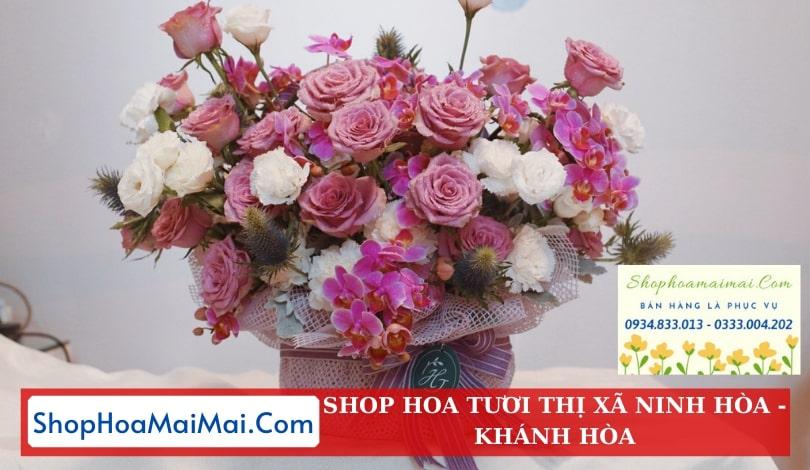 Cắm hoa sinh nhật theo yêu cầu Ninh Hòa