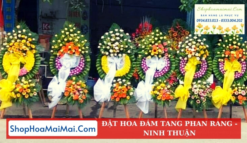 Tiệm hoa viếng tang lễ Phan Rang