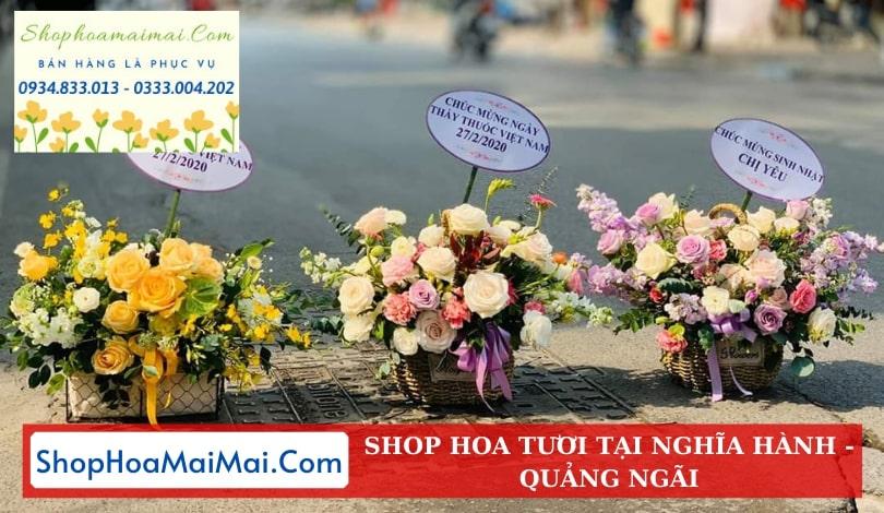Cắm Hoa Sinh Nhật Theo Mẫu Tại Quảng Ngãi