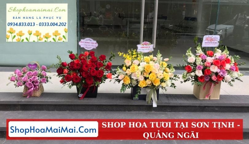 Cắm Hoa Theo Yêu Cầu Sơn Tịnh